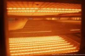 Use of halogen infrared heaters in industry