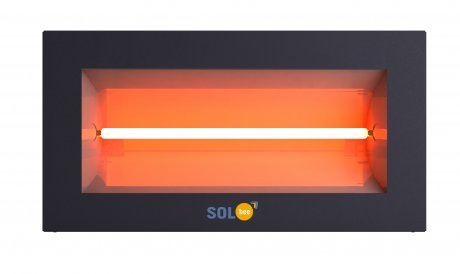 Infrared halogen heater SolBee SBH 20 C Dark Grey (2,0 kW, 2 m cable with plug)