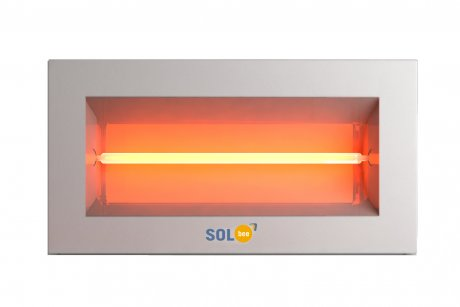 Infrared halogen heater SolBee SBH 15 B White (1,5 kW, contact box)