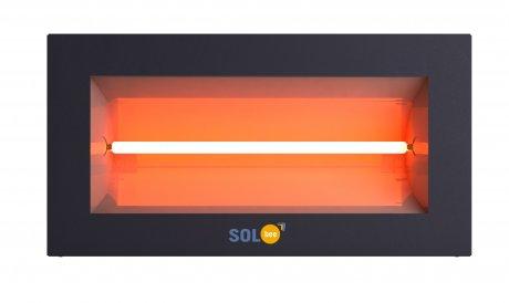 Infrared halogen heater SolBee SBH 20 B Dark Grey (2,0 kW, contact box)
