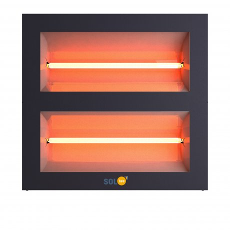 Infrared halogen heater SolBee SBH 30 C Dark Grey (3,0 kW, 2 m cable with plug)
